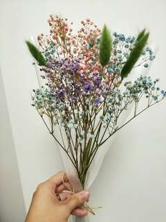 Small bouquet Dried Baby Breath