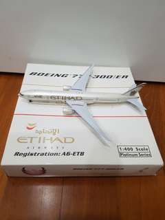 Ethihad Airplane Model