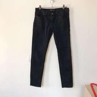 🚚 黑色牛仔長褲 M號 #女裝半價