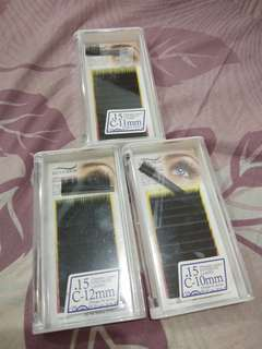 Eyelash extension c curl