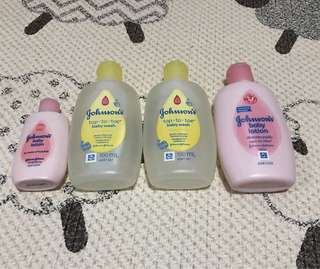 Johnson's Baby Lotion and body wash