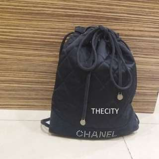 AUTHENTIC CHANEL SMALL SATIN BACKPACK