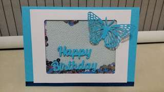Birthday Card (shaker card)