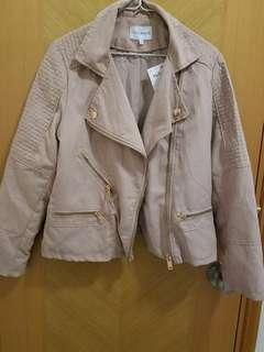 NEXT (uk) suede jacket in peach: NEW