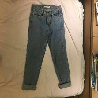 🚚 American apparel mom jeans 歐美牛仔褲