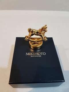 Mikimoto Message Stand Swing Rocking Horse with a Pearl
