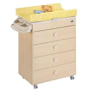 CAM baby changing table with bath tub and chest drawers