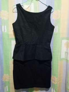 Black sexy formal dress