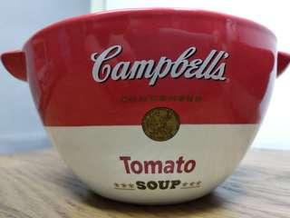 [2009 限量 絕版 收藏品〕金寶 Campbell's x Bossini 厚實 瓷湯碗一對 (不散賣)