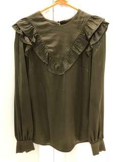 Ruffle Long Sleeve Top
