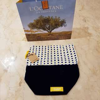 L'occitane cosmetic pouch/ tempat make up