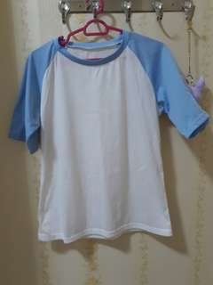 Blue Raglan Top