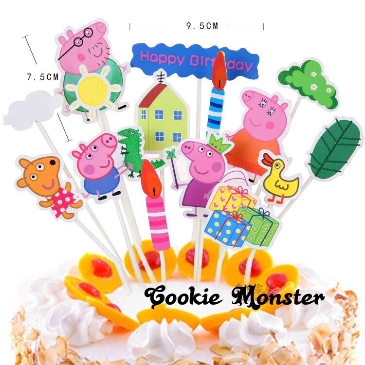 Peppa Pigs Party Supplies Diy Cake Deco Party Deco Dessert Deco Candy Bar Deco
