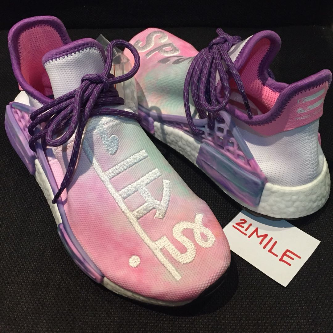 Adidas pharrell williams hu holi nmd, moda maschile, calzature in