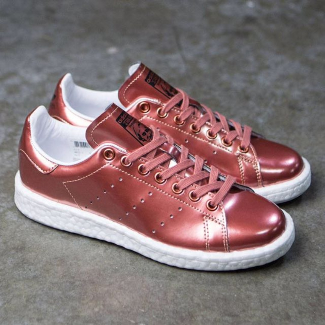 finest selection detailed pictures sleek Adidas Stan Smith Boost Womens - Copper Metallic, Women's ...