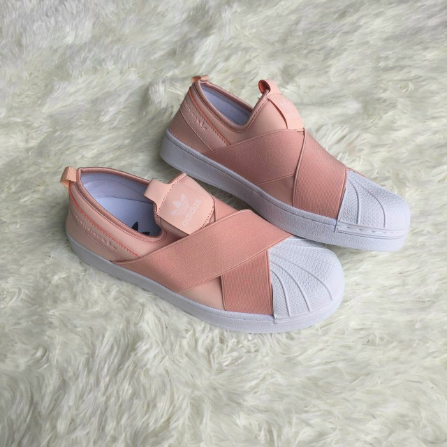 8aa08376c7f Adidas Superstar Slip On peach
