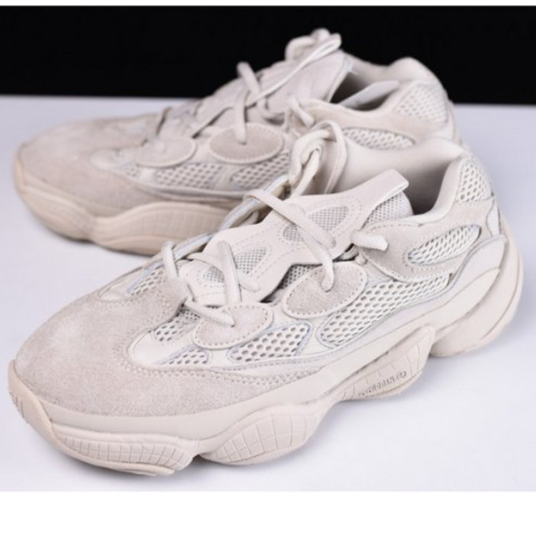 promo code 58b86 d86ef Adidas Yeezy 500 Desert Rat (Blush), Men's Fashion, Footwear ...