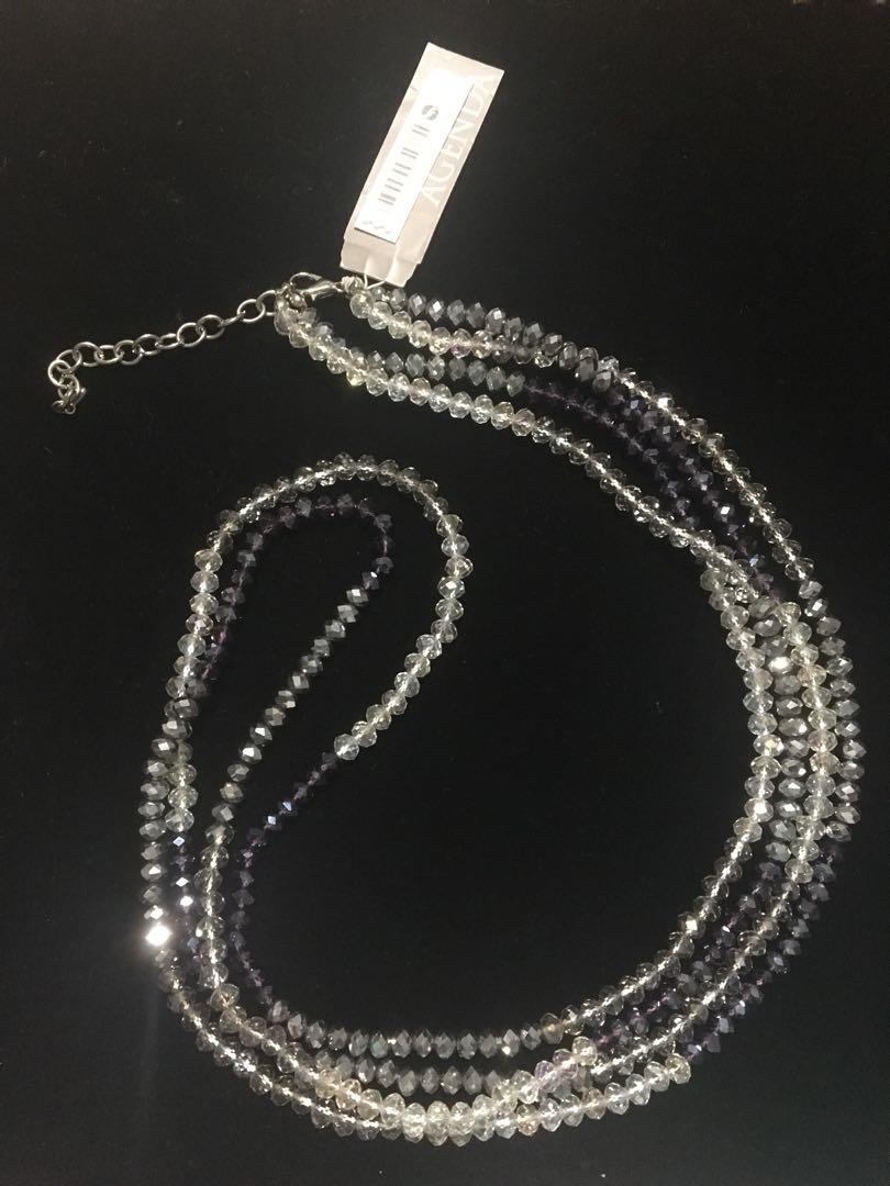 Agenda Purple Silver Long Necklace RRP$99.95