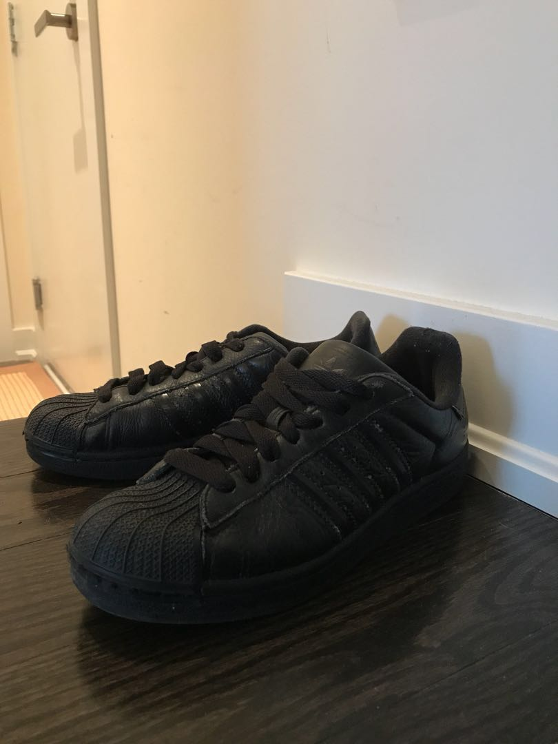 All Black Adidas 6US