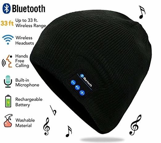 f2b559608519b Beanie Wireless Bluetooth Smart Caps Bluetooth Music Hat