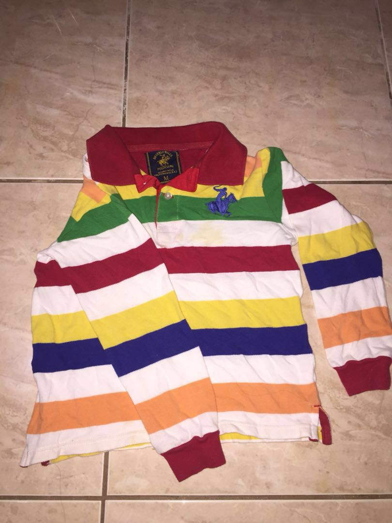 Beverly Hills Polo Long sleeves for Kids Sz Medium 4-6 years old