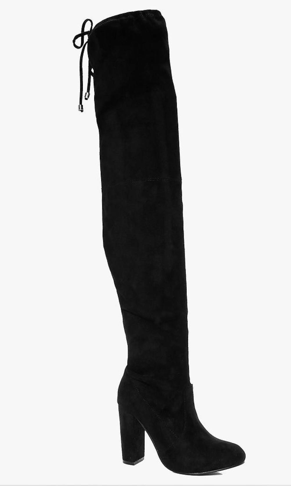 Black over knee boots