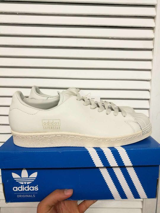 BNWT Adidas Superstar 80s Clean Originals Crystal White Size 39 | HYPE GLUE STORE