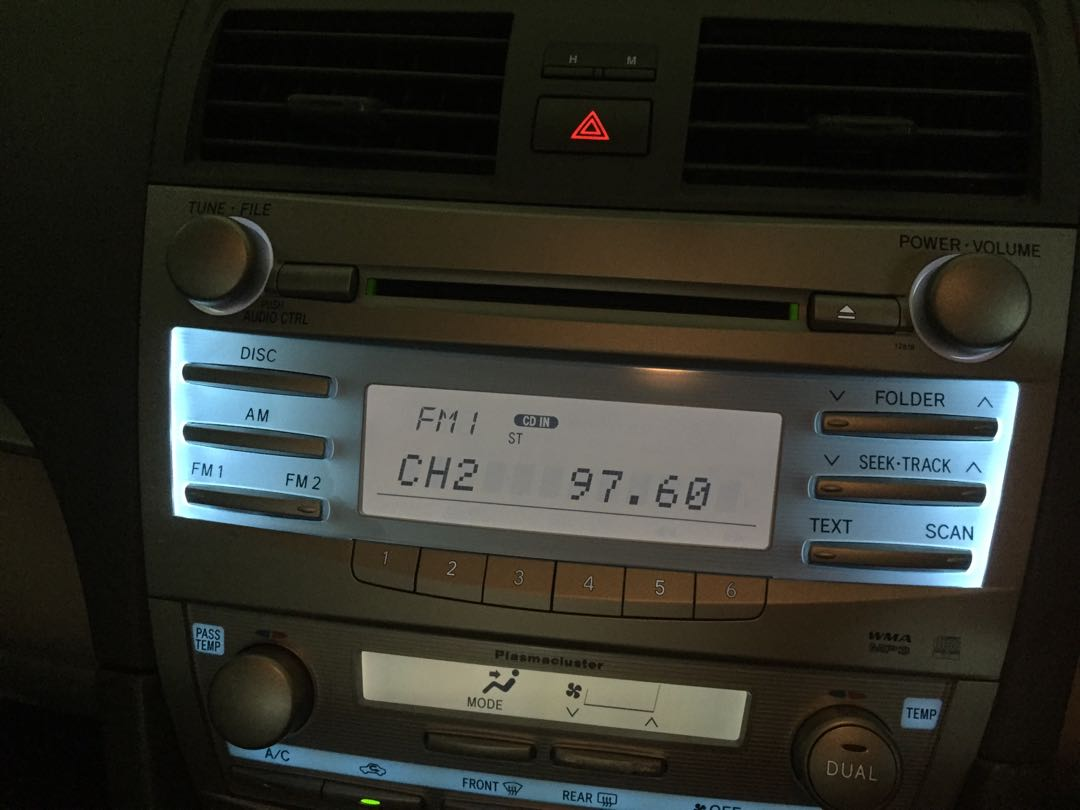"""Camry player with Rockford punch 10"""" subwoofer with amp"""