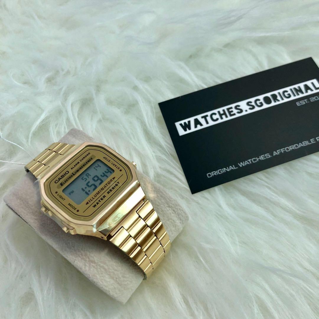 45e6ac1a2f71 Casio Watch Gold A168 AUTHENTIC