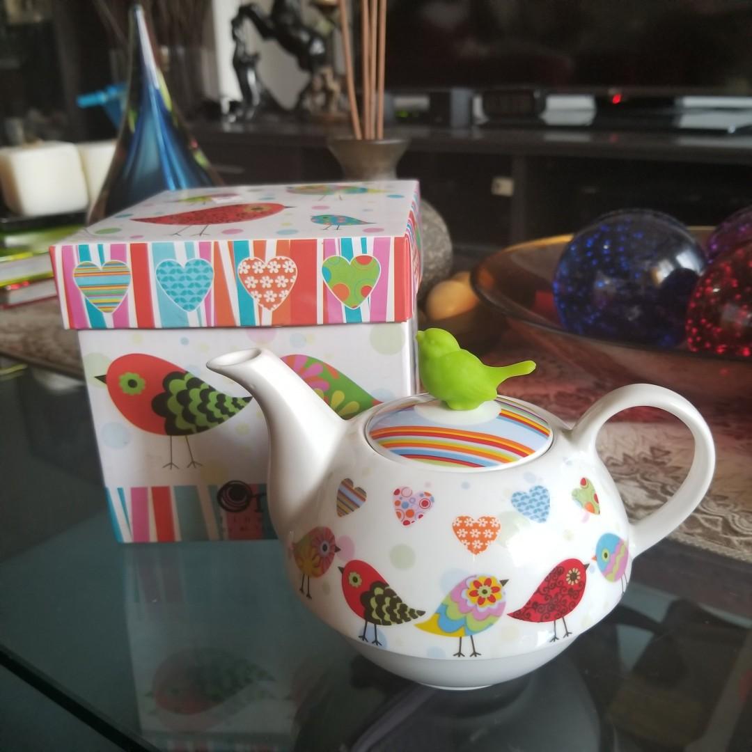 Ceramic Tea Hand Painted Kettle
