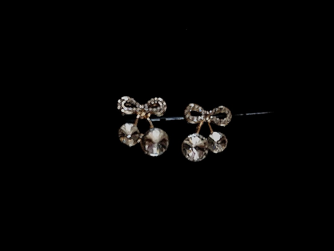 Cherry Bow Earrings