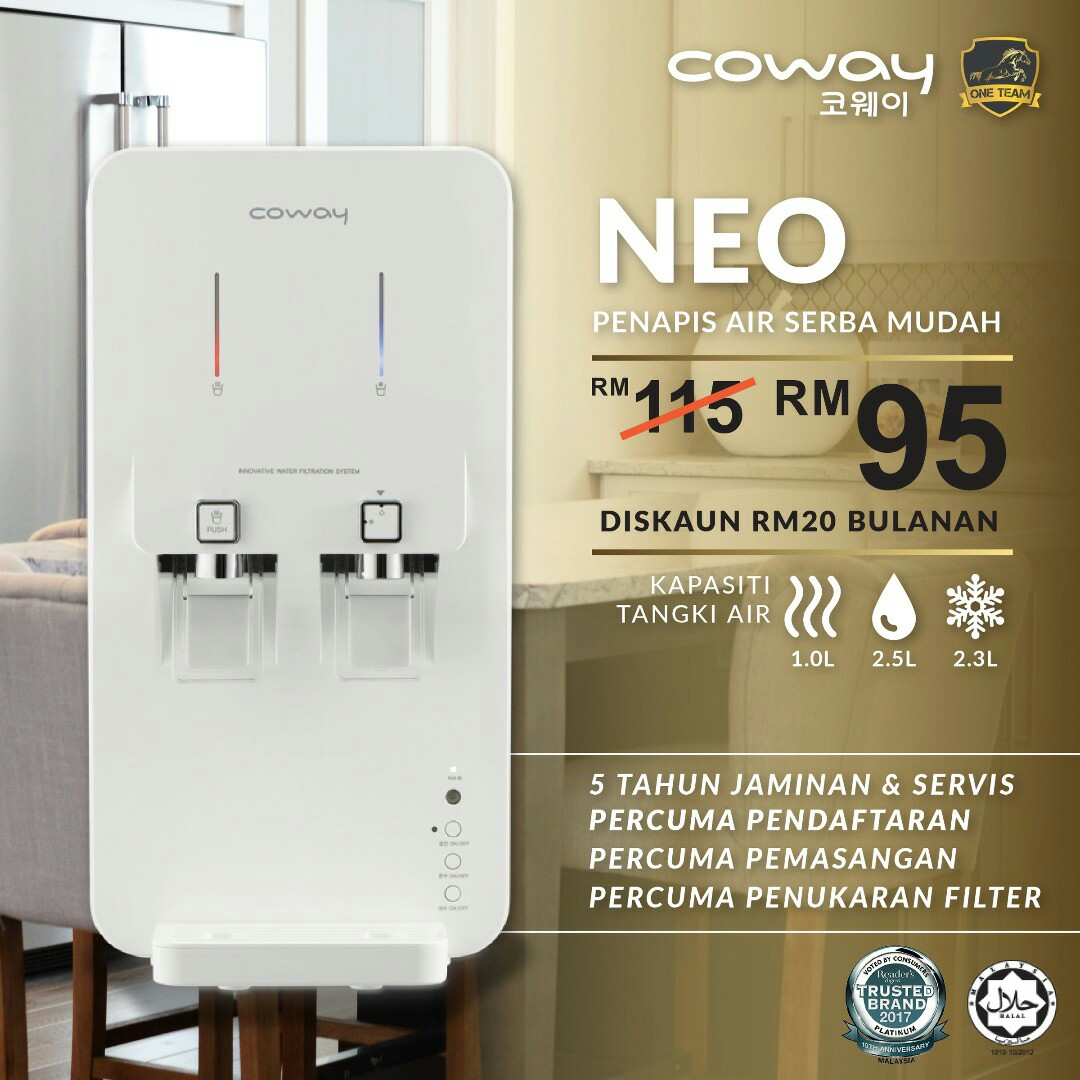 Coway Water Purifier, Kitchen & Appliances on Carousell