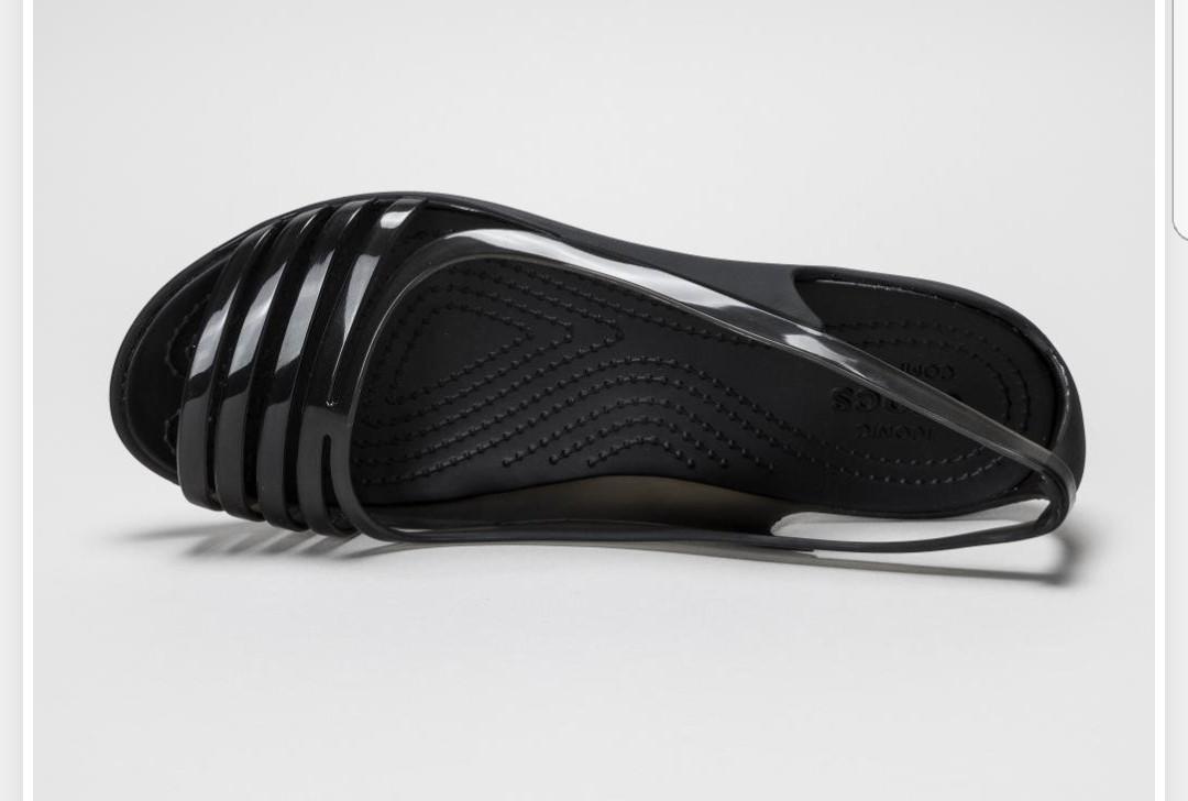81a1ae68cfba Crocs Isabella Huarache Flat Sandals