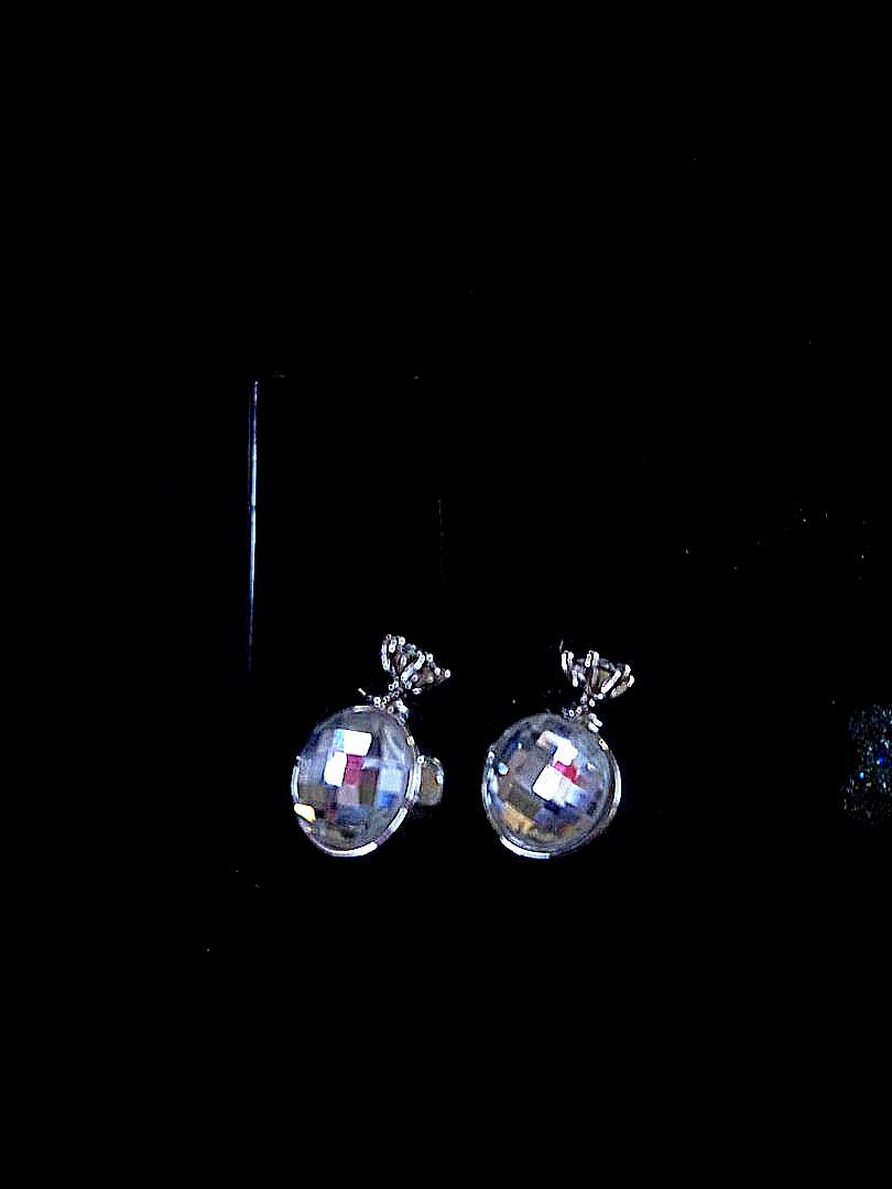 Disco Ball Crown Earrings