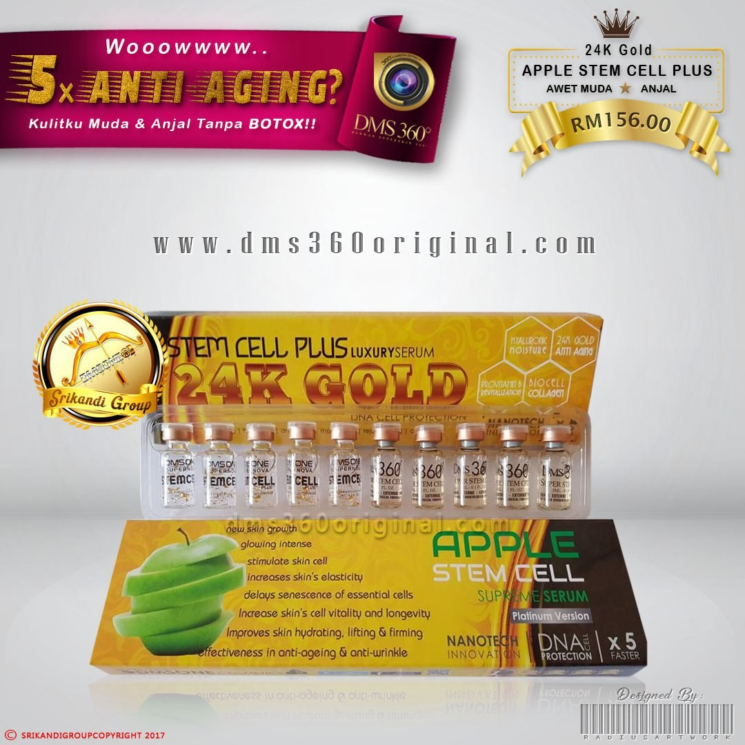 Dms360 Stemcell Plus 2 1 24k Gold Anti Aging Pigmen Serum Health Biogold Beauty Skin Bath Body On Carousell
