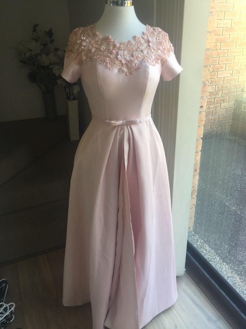 Embellished evening dress