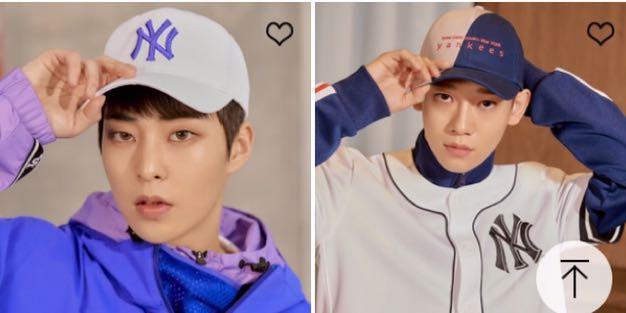 5df89fc71b8 EXO MLB CAP OFFICIAL KAI XIUMIN SEHUN BAEKHYUN SUHO DO CHEN CHANYEOL ...