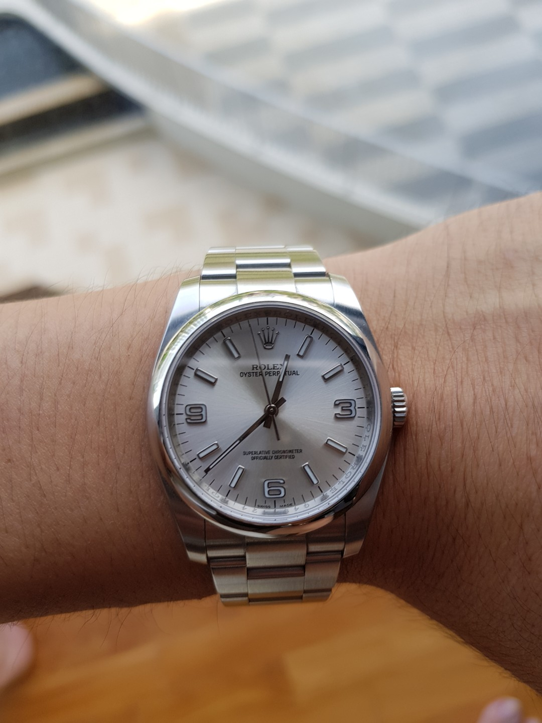 5d1d97f012f Like New Rolex 36mm 116000 Silver Dial Oyster Bracelet G Series, Luxury,  Watches on Carousell