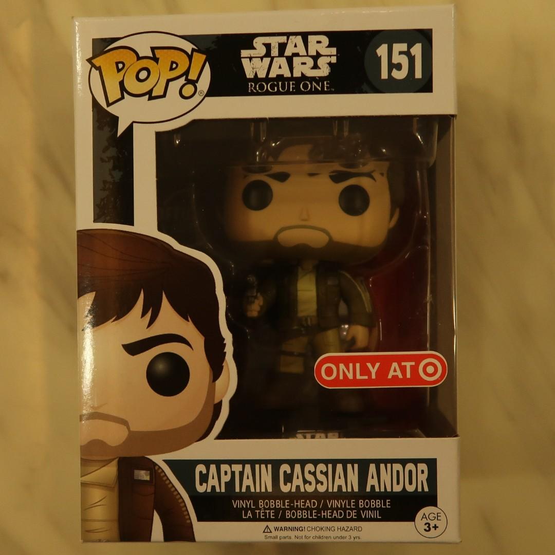 Funko Pop Star Wars Rogue One Captain Cassian Andor (Brown Jacket ...