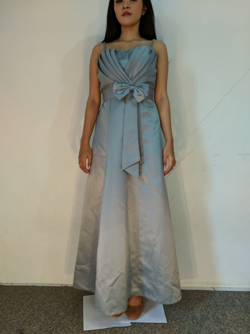 Gaun dress grey preloved