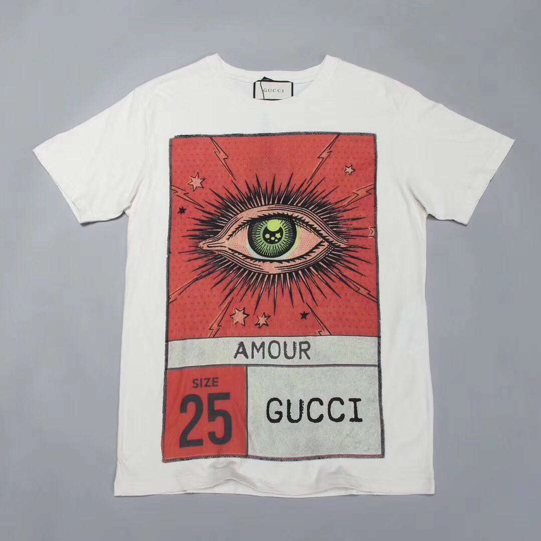 2590ddef Gucci amour eye print T-shirt, Men's Fashion, Clothes on Carousell