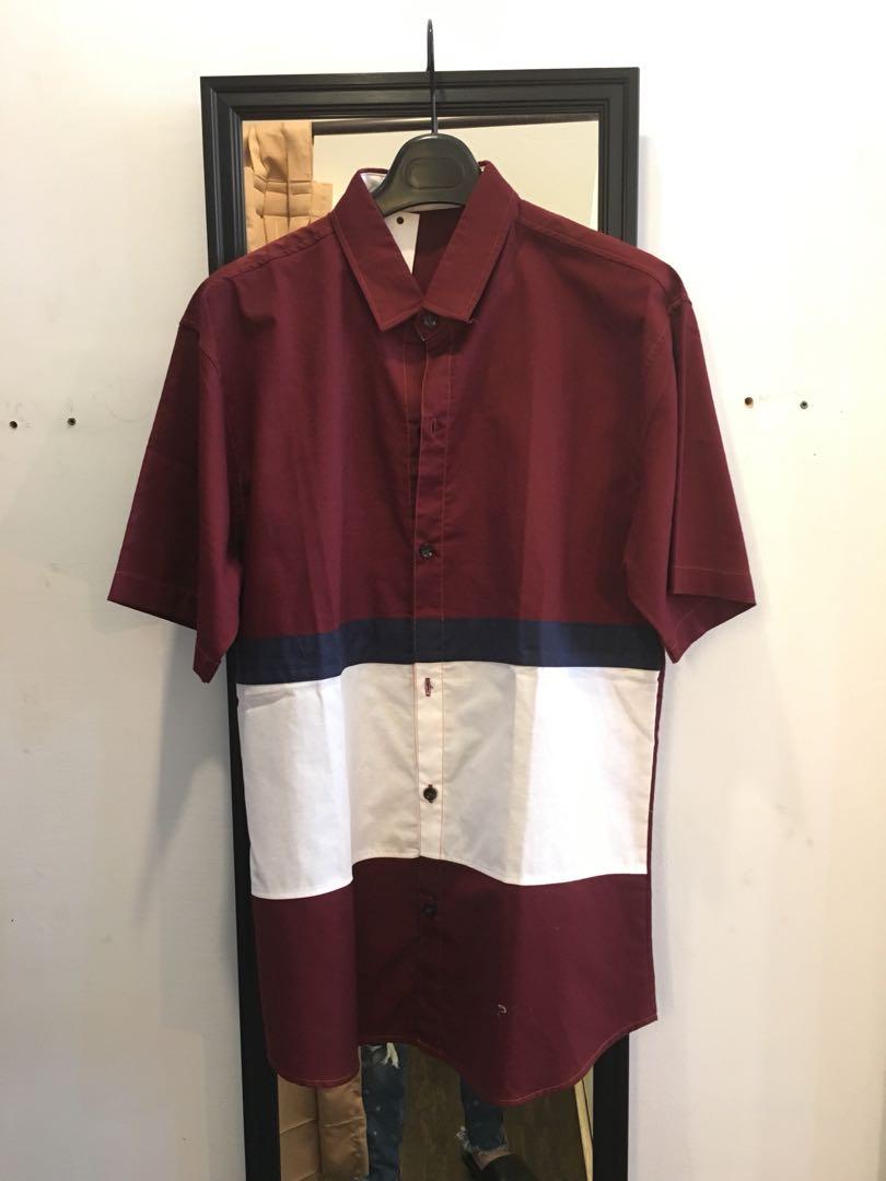 Kemeja Merah Kombinasi Putih Biru 100 Baru Mens Fashion Salt N Pepper Pria Lengan Pendek 042 Xl Clothes Tops On Carousell