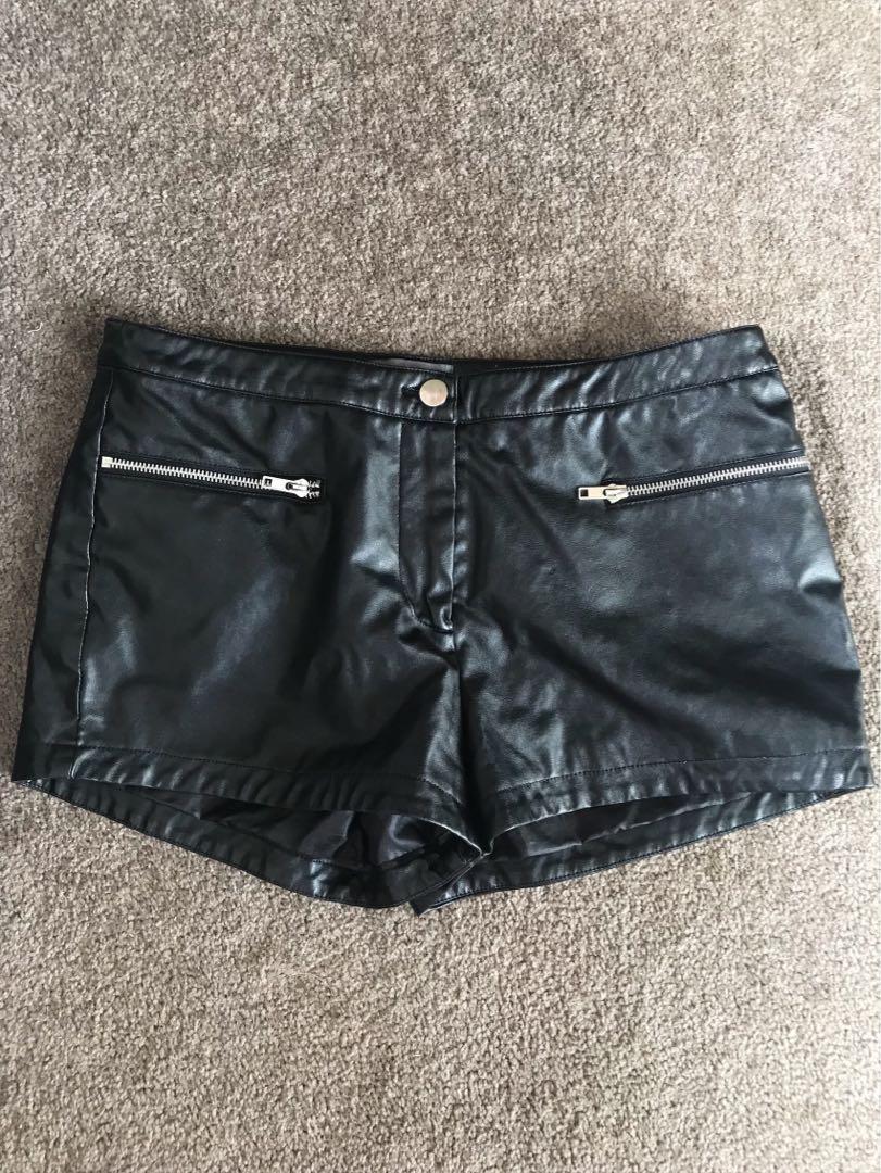 Leather-like Shorts