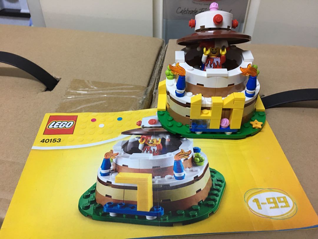 Lego 40153 Birthday Cake Set Toys Games Bricks Figurines On