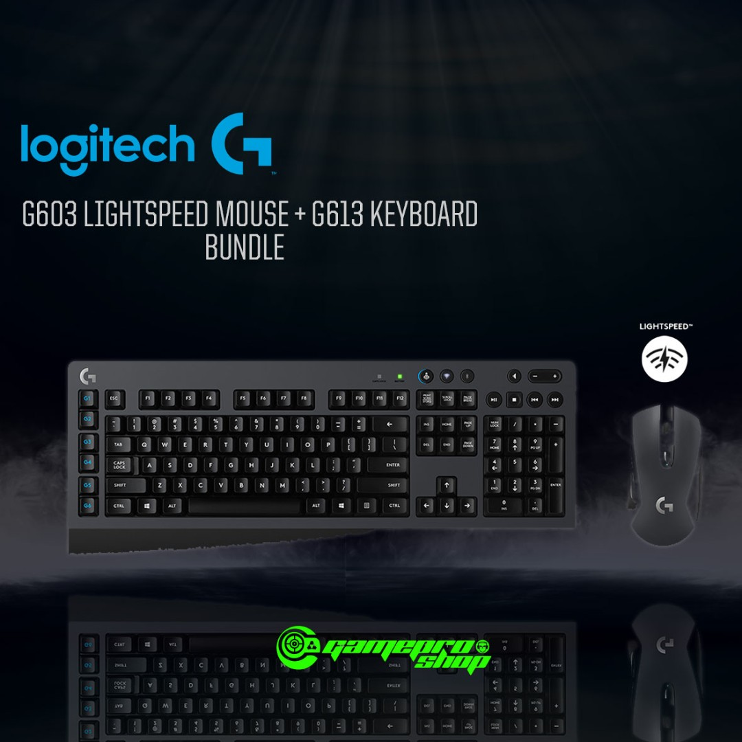 Logitech G613 Lightspeed Wireless Gaming Keyboard/G603
