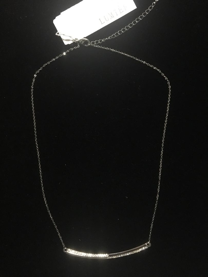 Lumiere Silver Crystal Necklace RRP$49.95