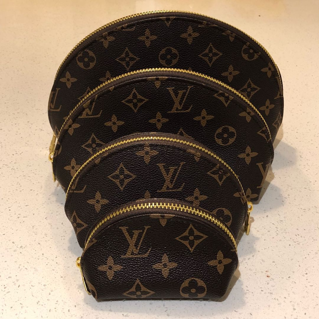 LV Makeup Cosmetic Bags x 4