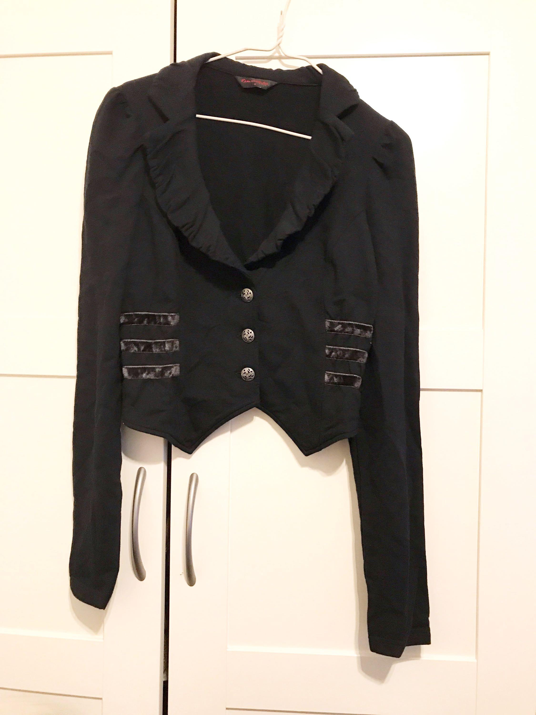 ca02520779f2 Miss selfridge black jacket cardigan coat top blouse blazer topshop ...