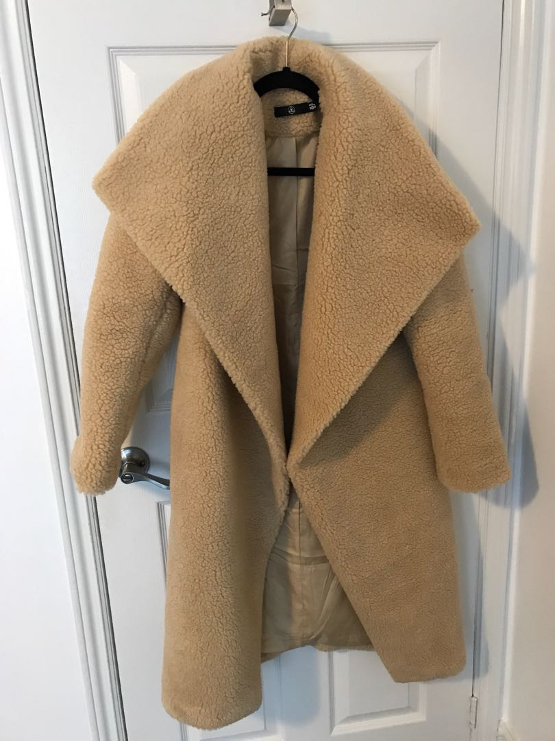 Oversized teddy coat
