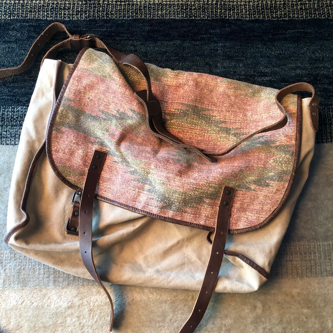 aefe57a1599d Polo Ralph Lauren Denim and Supply Large Messenger Bag in Canvas and ...